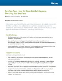 Gartner DevSecOps: How to Seamlessly Integrate Security Into DevOps