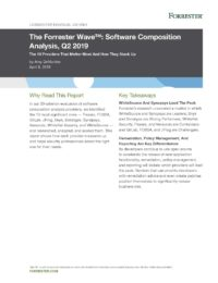 The Forrester Wave: Software Composition Analysis, 2019