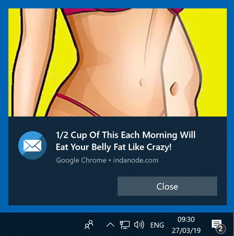 deceptive pop-up ad (Windows)