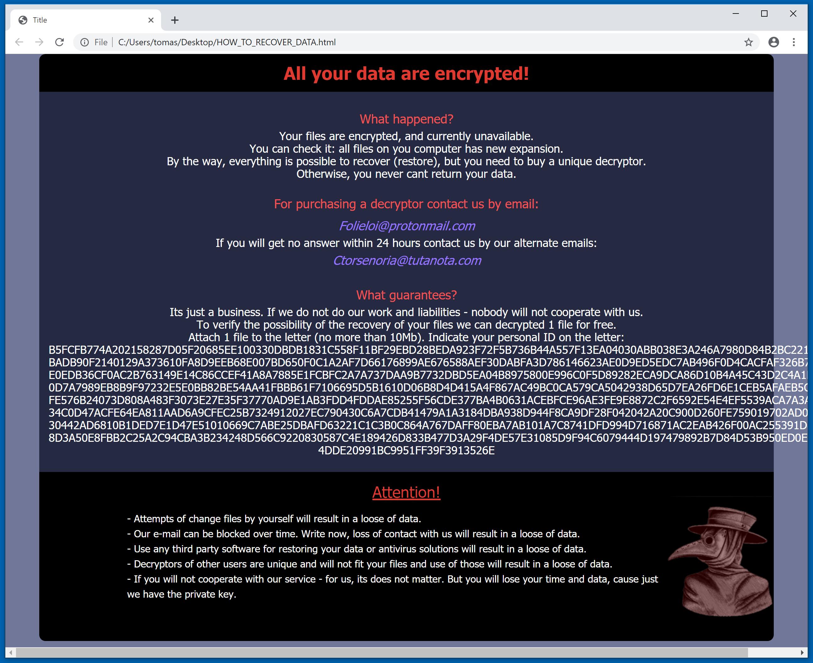 medusa ransomware - ransom demanding message